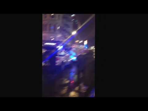 First footage of Apollo theatre roof collapse Shaftesbury avenue