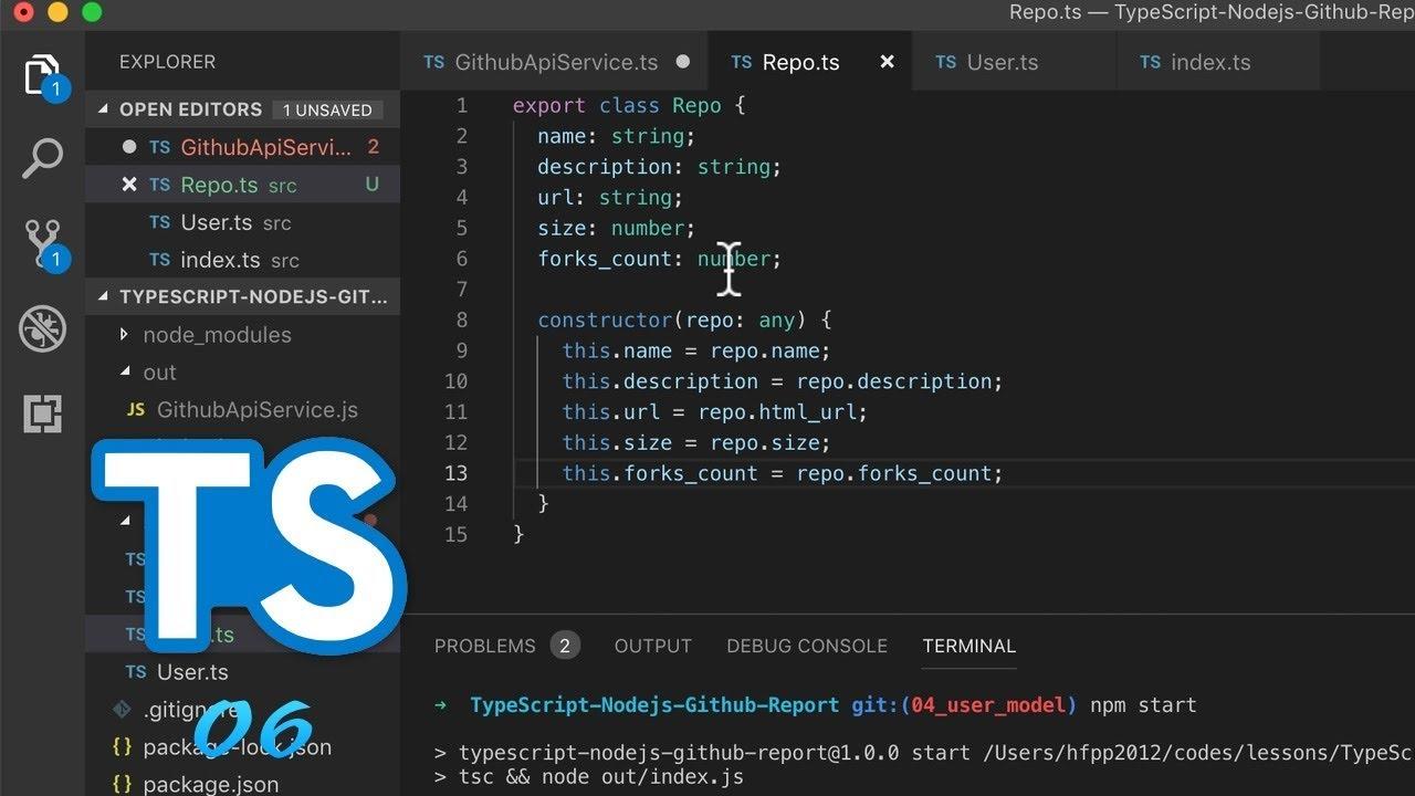 TypeScript + Node js 实战 GitHub API #6 创建 Repo model