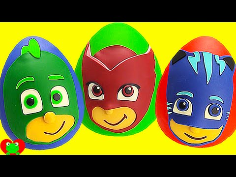 PJ Masks Play Doh Surprises Compilation HOUR Long Gekko, Owlette, Catboy and More