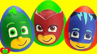 PJ Masks Play Doh Surprises Compilation HOUR Long Gekko, Owlette, Catboy and More