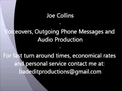 Joe Collins Voiceovers and Audio Production