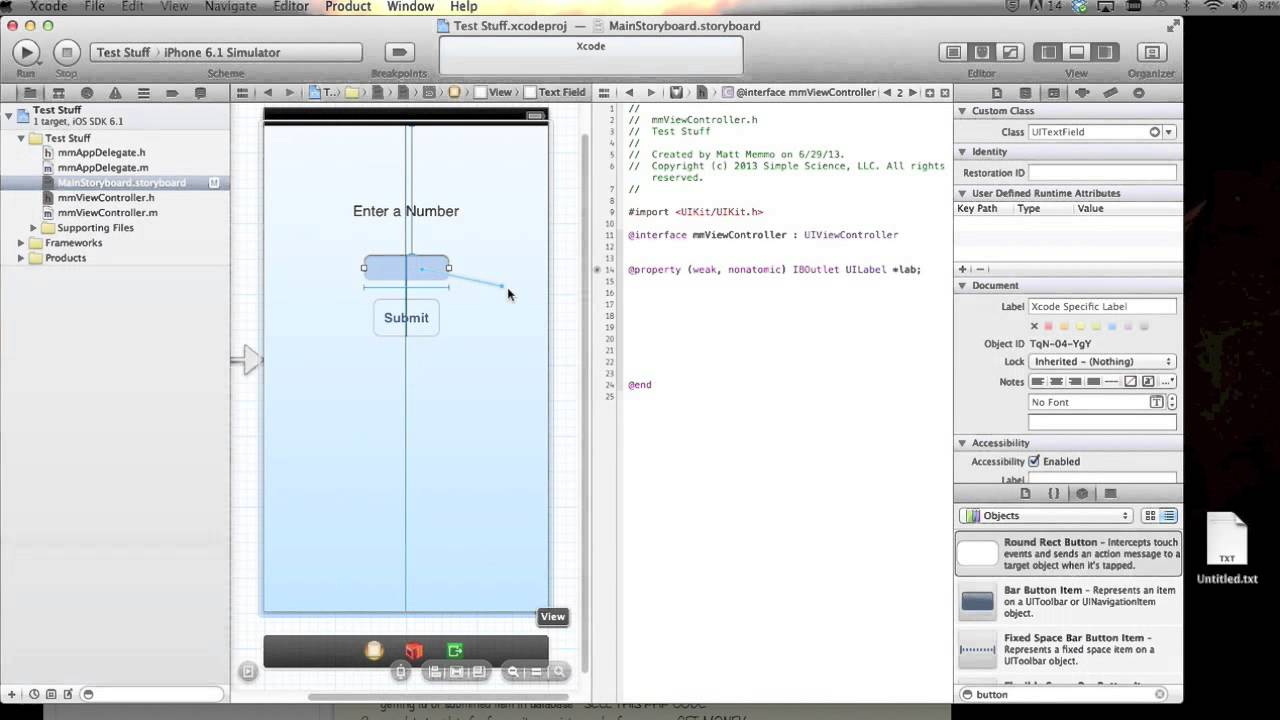 Drawing Lines Xcode : Xcode get input from a text field and display on the screen youtube