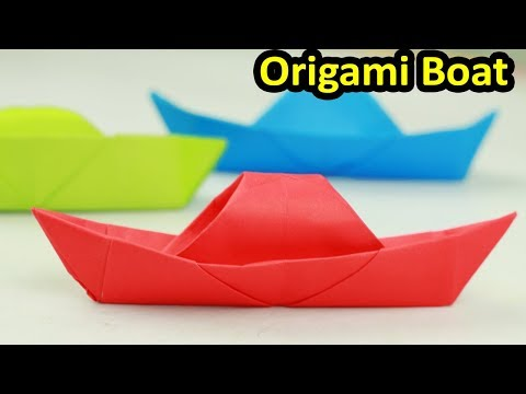 [NO GLUE Paper crafts] How To Make A Paper Boat Without Glue/How to Make a Paper Canoe(Origami Boat)