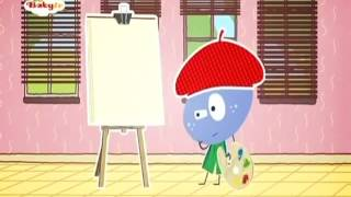 BabyTV   Stick with Mick   Mick paints a picture english