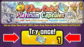 The Battle Cats - Cat Food, 10 Platinum ticket Opening !!! Happy Lucky