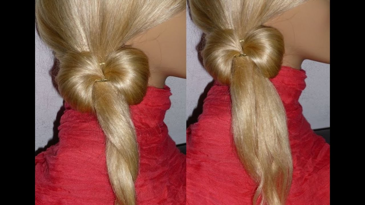 Hair Bow Hairstyle for Thin Hair.Easy and Quick Everyday Hairstyles for ...