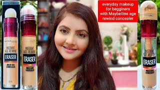 Everyday makeup for beginners with Maybelline age rewind eraser multi use concealer RARA makeup