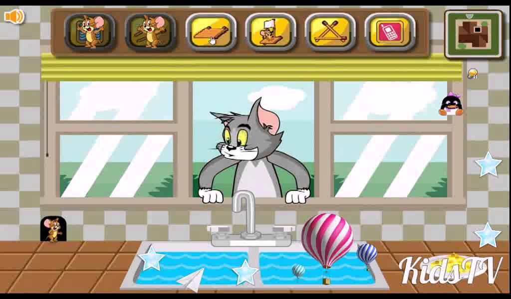 Помоги коту играть