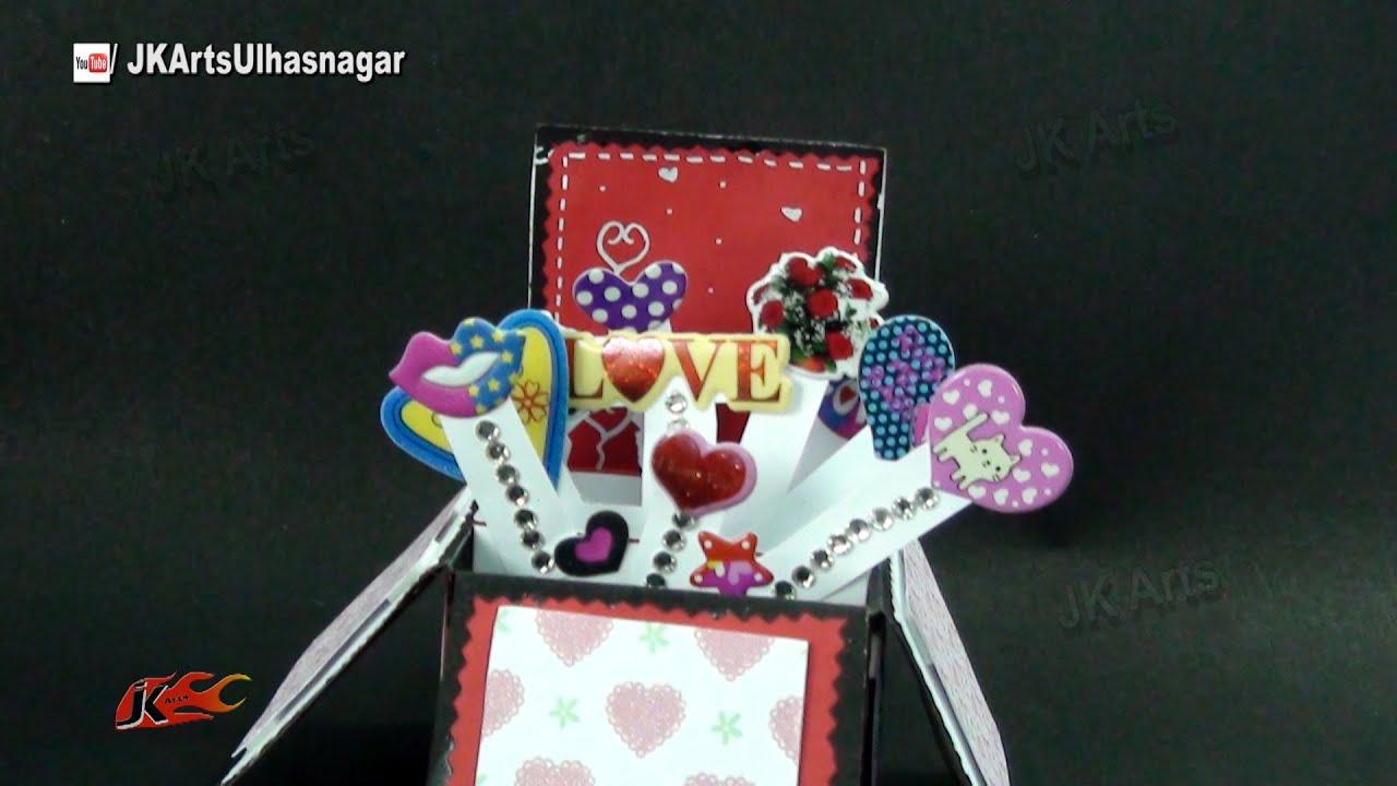Scrapbook ideas pop up - Pop Up Surprise Box Card Idea Tutorial Link In Description Jk Craft Ideas 071