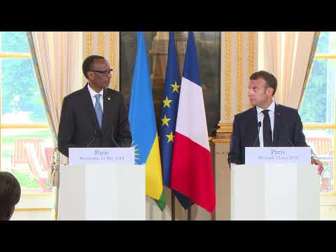 President Kagame and President Macron hold joint press conference at Palais de l'Élysée