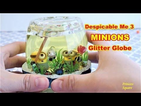 DIY Despicable Me 3 Minions Glittery Garden Globe