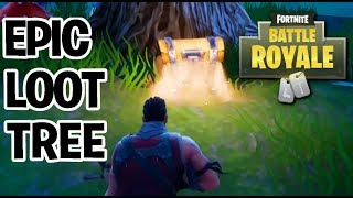 AWESOME LOOT TREE LOCATION! 2X Loot Boxes!| FORTNITE BATTLE ROYALE SOLO + SQUAD TIPS & TRICKS