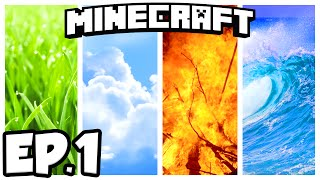 Minecraft: GRACE OF THE ELEMENTS Ep.1 - EARTH, AIR, WATER, FIRE!!! (Minecraft 1.9.2 Adventure Map)