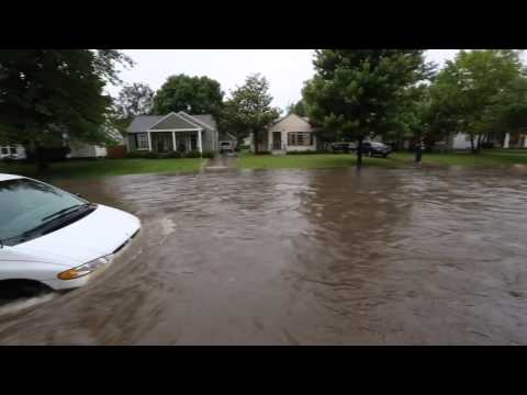 Street flooding in Wichita
