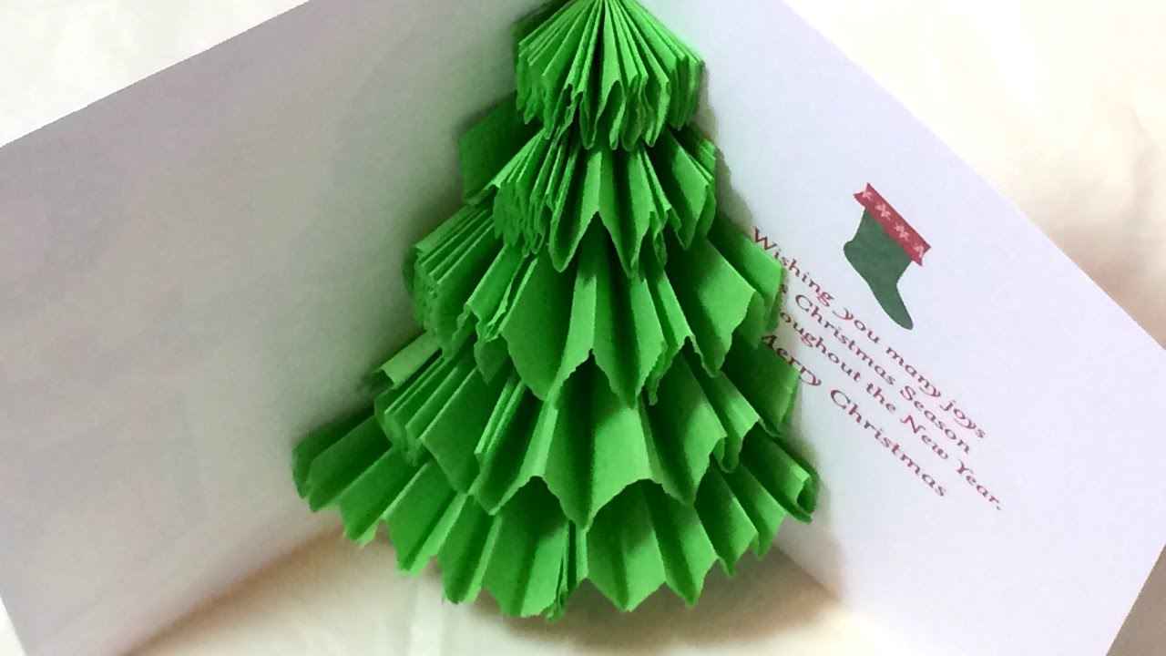2 Ways To Make A 3D Pop Up Christmas Tree Card