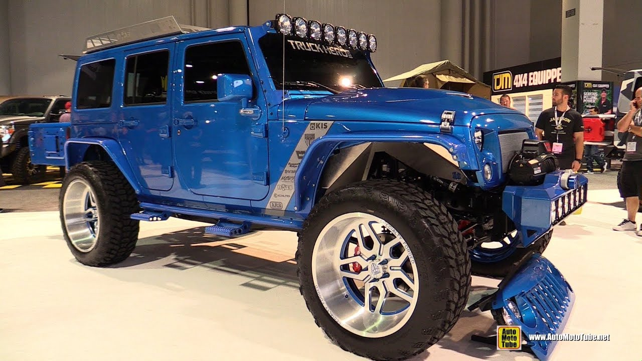 2016 Jeep Truck >> 2016 Jeep Wrangler Customized By Truck Hero Exterior Walkaround Sema 2016