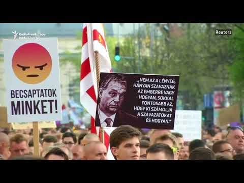 Budapest Rally Urges Vote Recount After Orban's Reelection