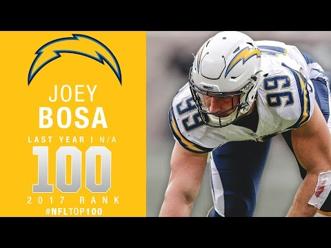 #100: Joey Bosa (DE, Chargers) | Top 100 Players of 2017 | NFL