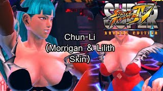 Chun-Li Morrigan and Lilith Skin (Super Street Fighter IV: Arcade Edition)