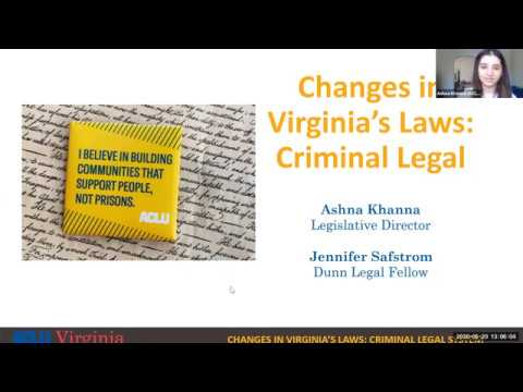 Changes In Virginia's Laws: Criminal Legal System
