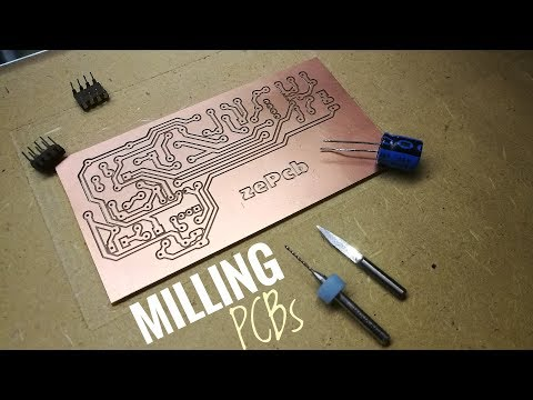 Milling PCBs on a Homemade CNC