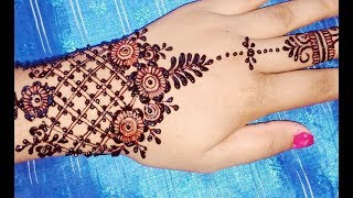 Easiest Mehndi Design Idea to Apply yourself on Eid - Shimmi
