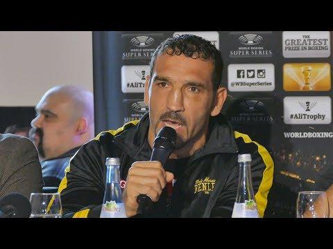 Firat Arslan bei der WBSS Pressekonferenz in Stuttgart   Alejandro Valori