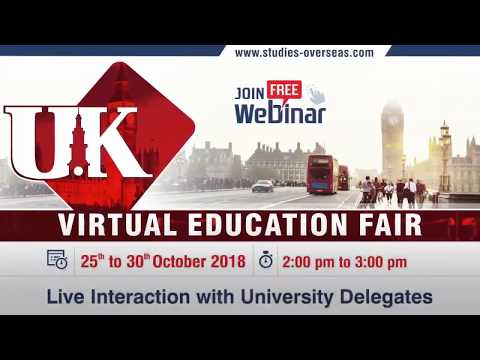 Study Abroad Webinar 2018 | Live Chat With Top UK Universities