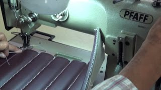 UPHOLSTERY BASICS - On Top Stitches Foamed Channels/Pleats - TUTORIAL