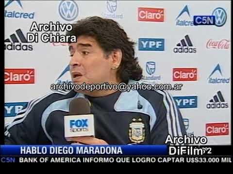 Diego Maradona Habla De Juan Roman Riquelme - DiFilm 2009