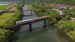 PHANTOM 4 北郷町の鉄橋を走るJR九州日南線を空撮 Litchi