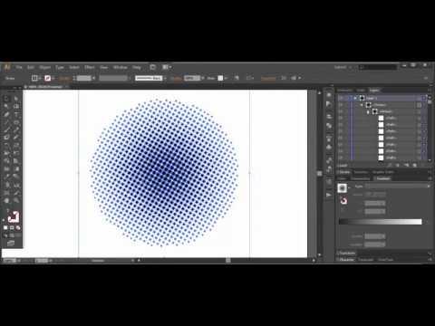 Halftone effect, dot pattern - Adobe Illustrator cs6 ...