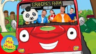 Wheels on the Bus | Nursery Rhymes and Kids Songs | The Mik Maks