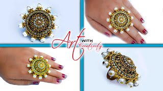 Make a ring for special occasion    paper ring   Party wear   Art with Creativity