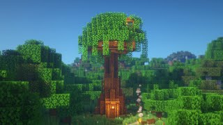 Minecraft: How to Build a Tree House | Simple Tree House Survival Tutorial