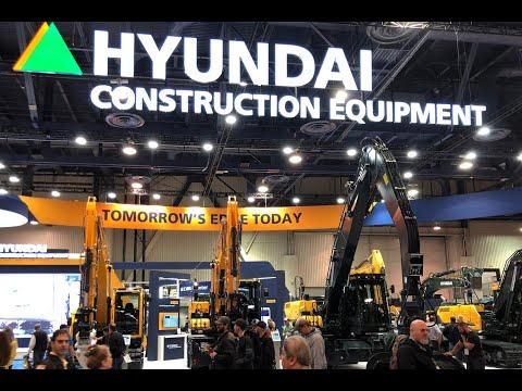 CONEXPO-CON/AGG 2020 Trade Show Highlights-Hyundai Construction Equipment  Booth Tour Video