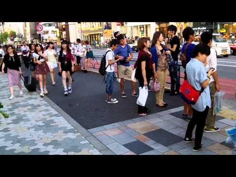 People Walking around in Tokyo Japan