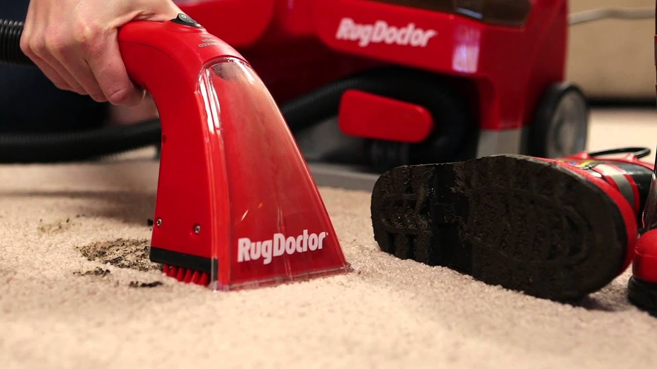 rug doctor portable spot cleaner using the suction capabilities