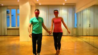 Zouk dance lessons. Beginners 1. 15.03.15. Two basic steps backwards and wave.