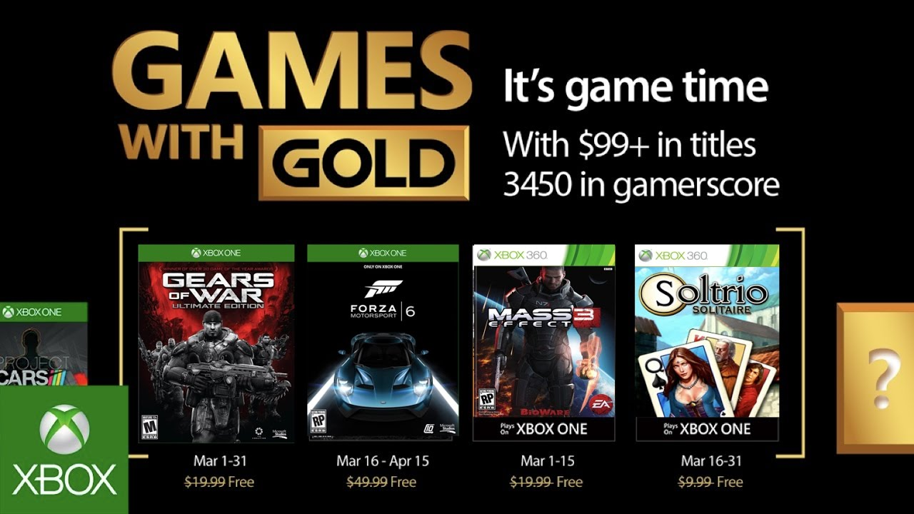 Xbox April 2017 Games With Gold April Xbox Games With