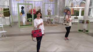 Orla Kiely Coated Canvas Zip Top Messenger on QVC