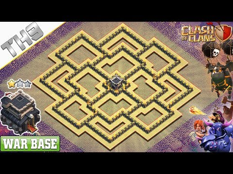 new-th9-war-base-layout-2019-with-copy-link- -clash-of-clans
