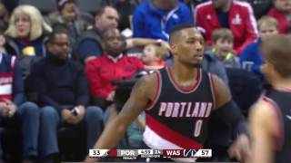 Damian lillard deep 3 pointers 2016-2017 (30+ feet)