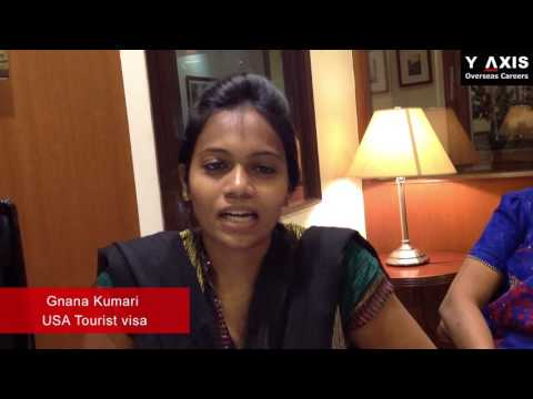 Y-Axis Client Gnana Kumari Review On Her USA Tourist Visa Services.