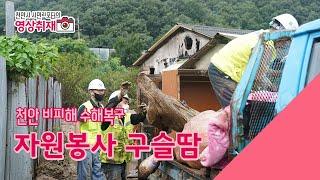[시민리포터 브이로그] 천안 비피해 수해복구 자원봉사 …