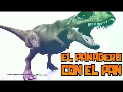 El mismo dinosaurio bailando el panadero con el pan🎶