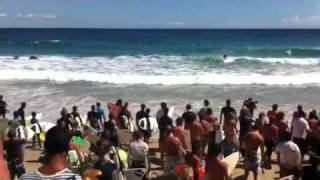 Andy irons memorial paddle out, Coolangatta Qld