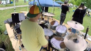 drum cam with iem in ear monitor audio feed uptown funk