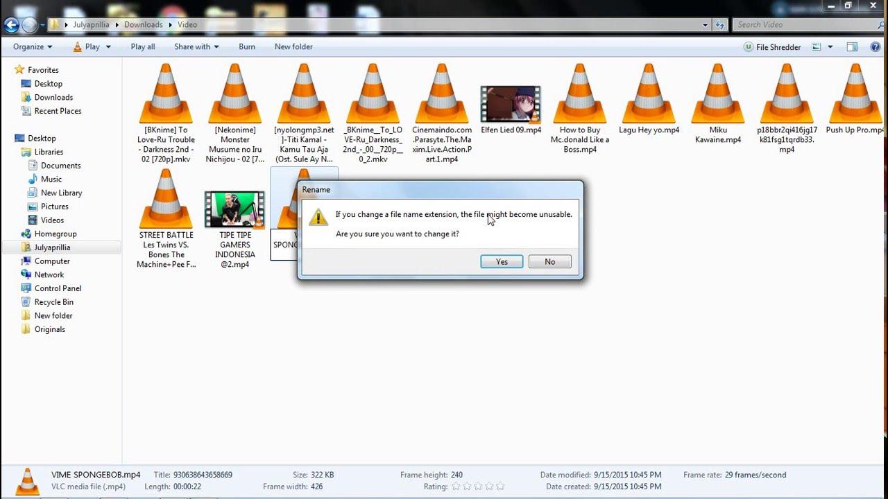 Cara Mengubah Format File Video Tanpa Software Di Windows 7 Youtube