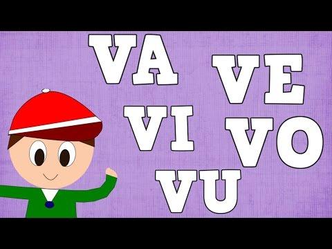 Sílabas VA VE VI VO VU - Syllable with V -  Vídeos para niños